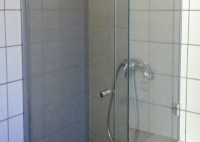 Dusche Nischenanlage integriert