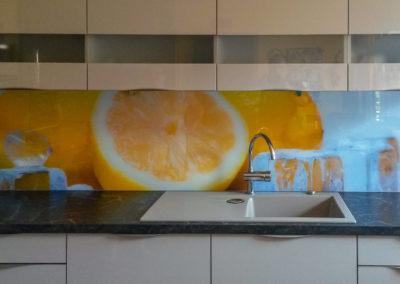 Kuechenrueckwand Zitronen