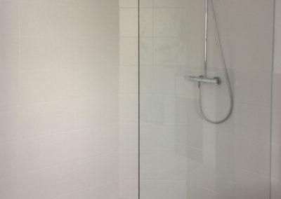 Dusche Festelement Wandbefestigung Stange